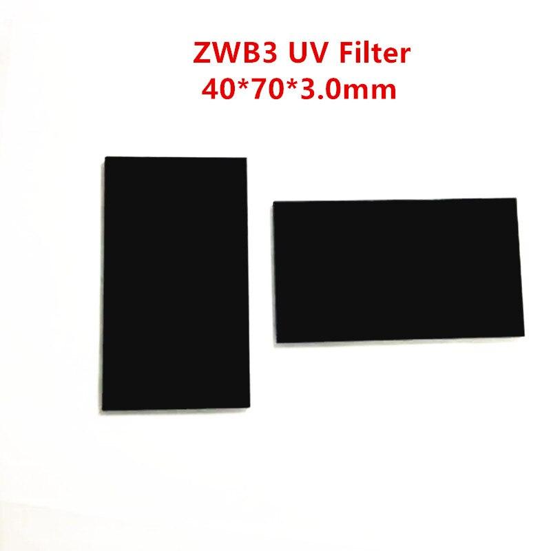 254nm zwb3 40*70*3.0mm ug5 U-330 filtro de passagem uv ultravioleta bandpass vidro