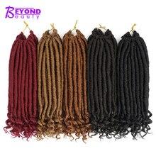 Extensions capillaires synthétiques Faux Locs de déesse   Postiches Crochet de 14 pouces, postiches au Crochet de couleur en dégradée et faites à la main
