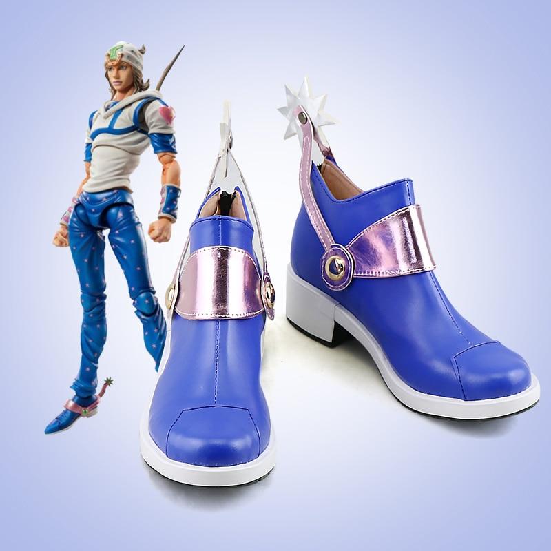 Anime JOJOS BIZARRE ADVENTURE Costumes Johnny Joestar shoes Cosplay Custom Halloween men and women cartoon Game animation shoes