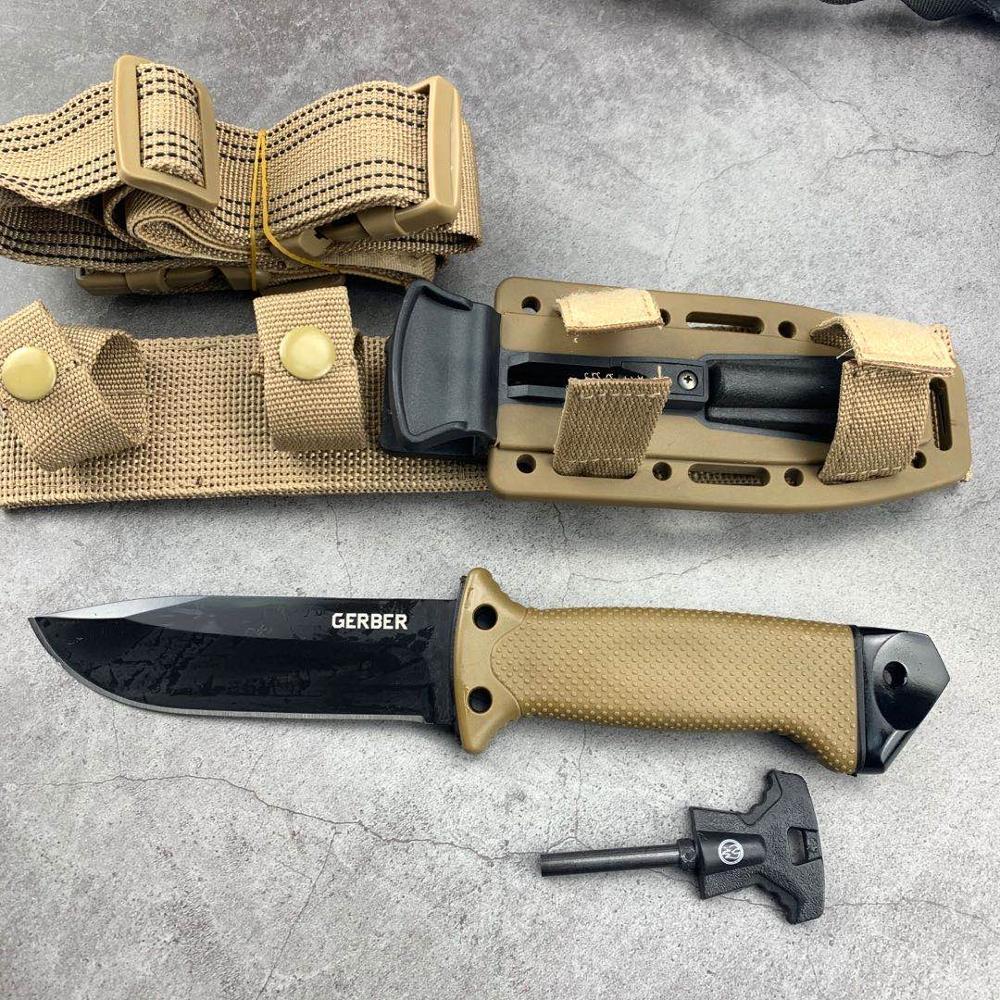 7CR17MOV شفرة سريعة مفتوحة السكاكين AKC 58HRC في الهواء الطلق المحمولة جيب EDC التخييم التكتيكية سكين للفرد السكاكين العسكرية القتالية