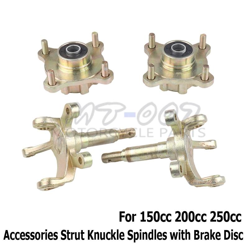 Big bull accessories Strut Knuckle Spindles with Brake Disc Wheel Hubs for 150cc 200cc 250cc Go Kart Buggy ATV UTV Bike Parts