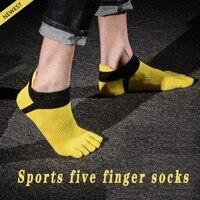 new mens socks 5 toe socks split toe socks casual breathable middle tube five finger socks mens socks 5 pairs set