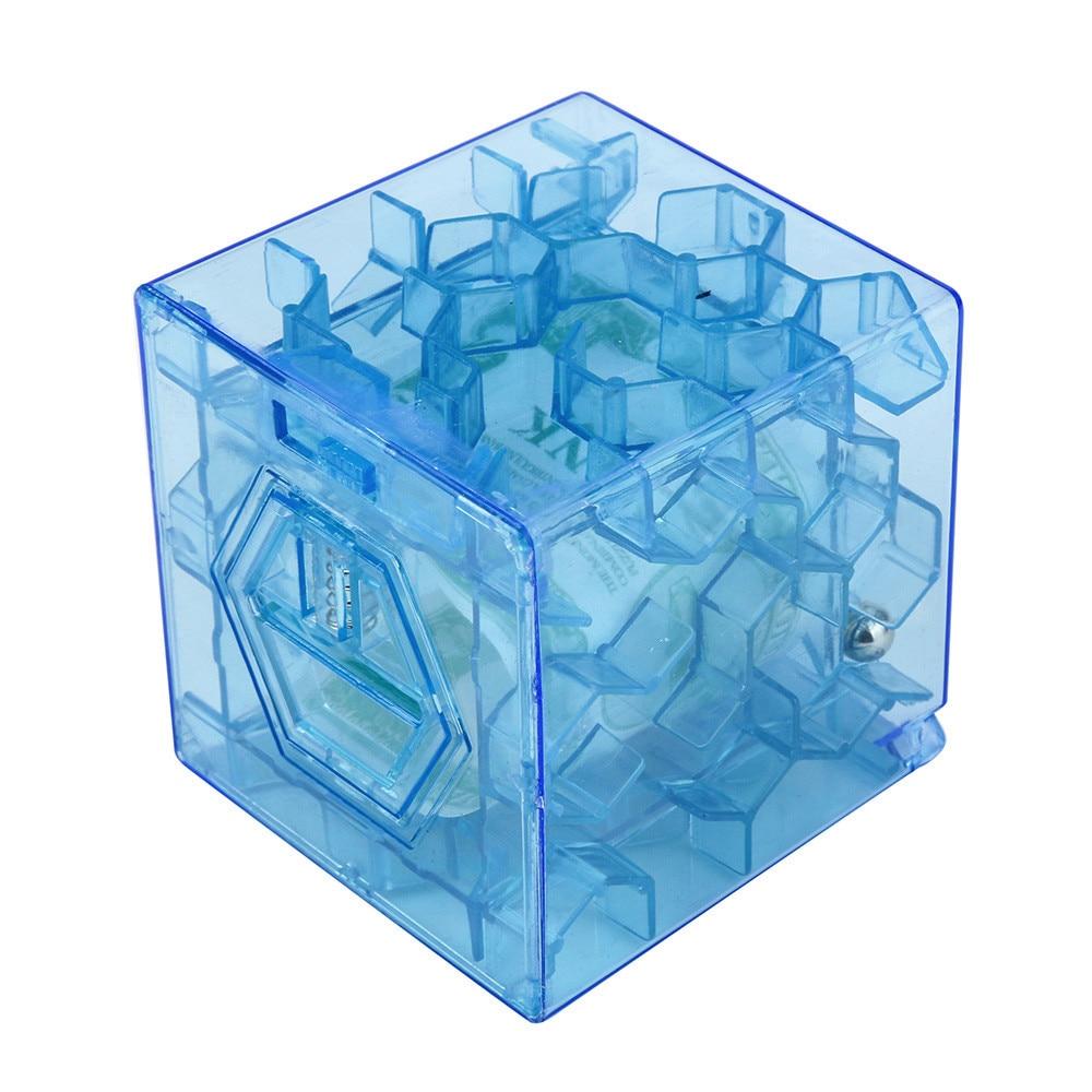Cubo 3D rompecabezas laberinto para dinero Banco ahorro de monedas caja divertido juego de cerebro juguetes para niños juguetes regalo de Navidad