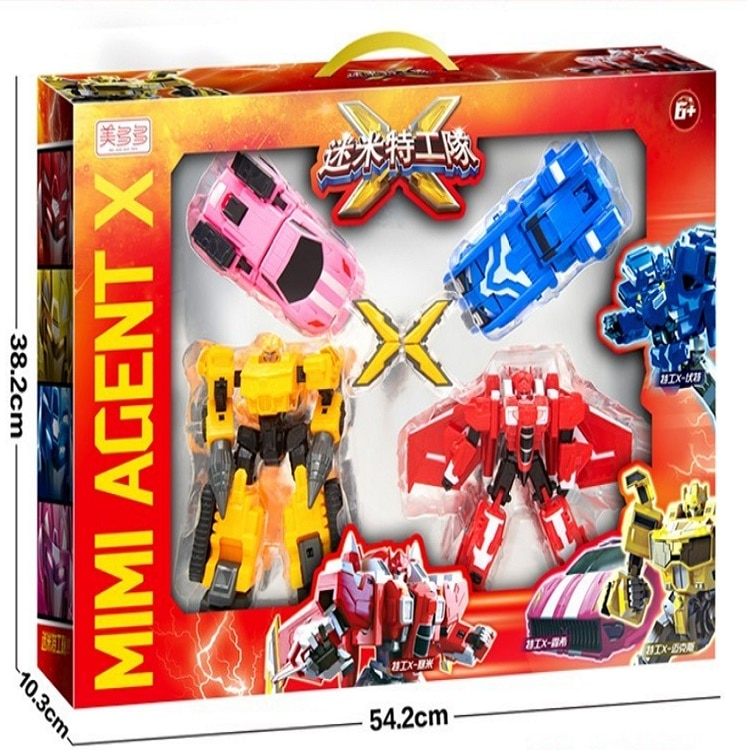 2021 New MiniForce Transformation Big Version Action Figure Toys Agent Toys X Volt Semey Air Force Toys For Boys Gifts Style 1