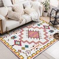 fashion nationality geometric style bedroom bedside mat living room kitchen carpet plush non slip rug custom made floor mat