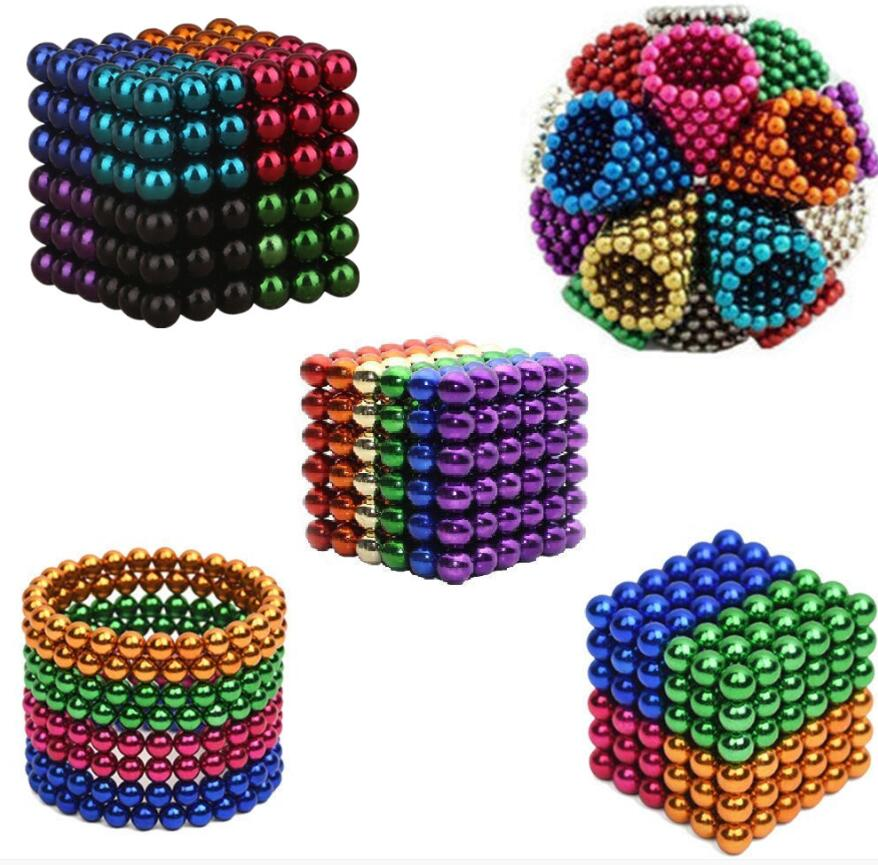 DIY Metal Neodymium Magic 5mm Magnet Magnetic Balls Blocks Cube Construction Building Toys Colorfull Arts Crafts Toy Over 14Y