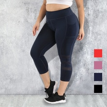 S-4XL de talla grande con bolsillo para mujer, mallas para Yoga, mallas deportivas, Push Up, cintura alta, ropa negra para gimnasio, ropa deportiva para correr