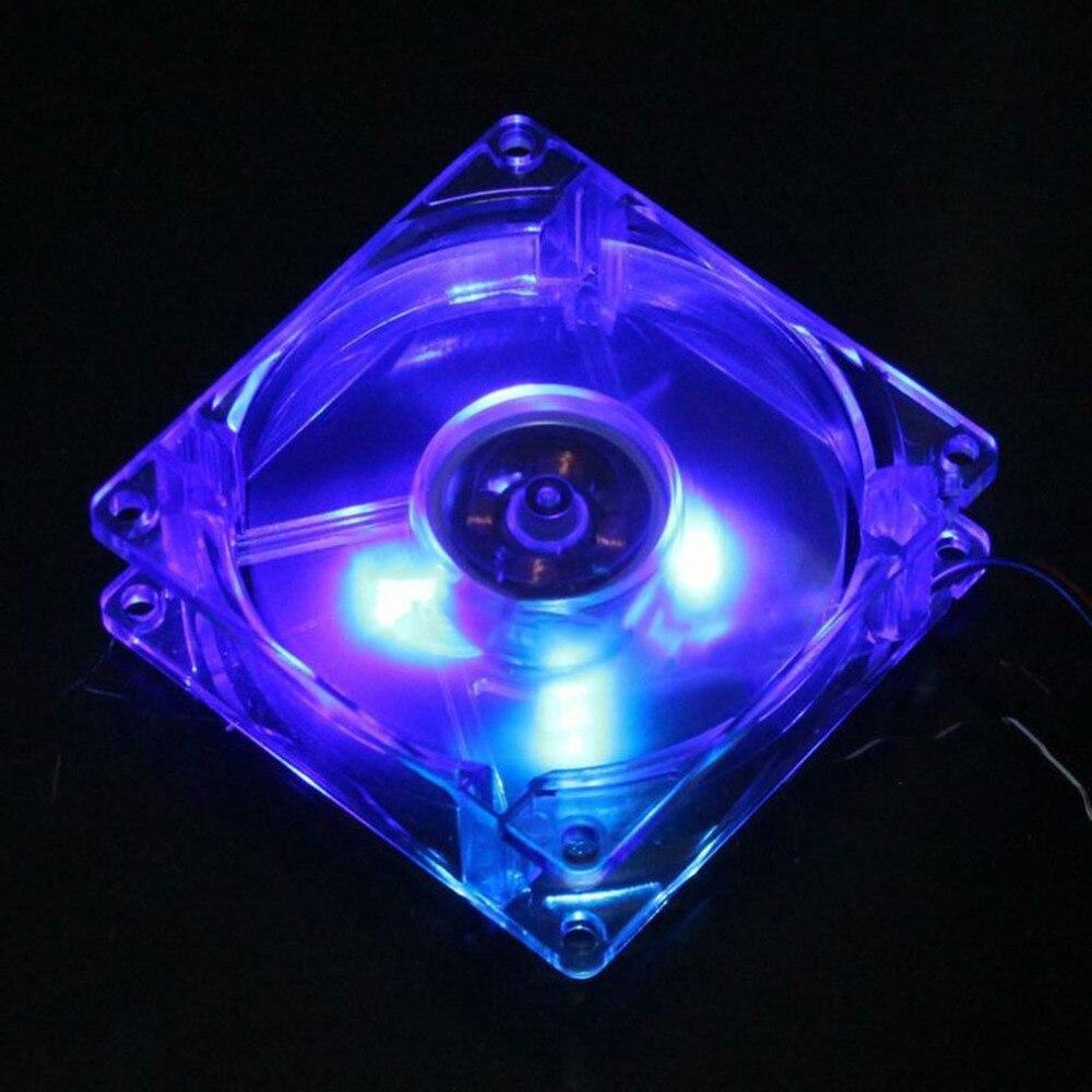 Компьютер ПК Вентилятор 80 мм С LED 8025 Бесшумный Охлаждение Вентилятор 12V LED Световой Chass Компьютер Корпус Охлаждение Вентилятор Мод Легко Установлен