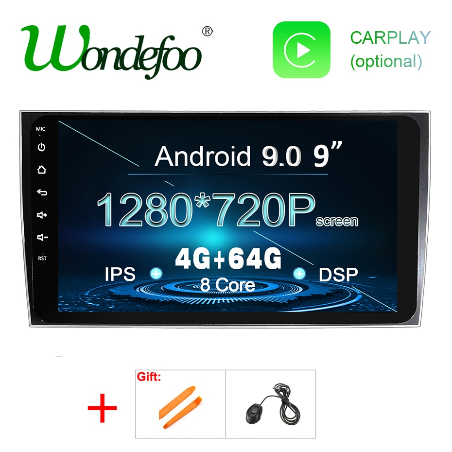 IPS DSP Android 9,0 64G reproductor de DVD de coche para Porsche Cayenne 2003-2010 S 2003-2010 Cayenne GTS 2003-2010 GPS radio