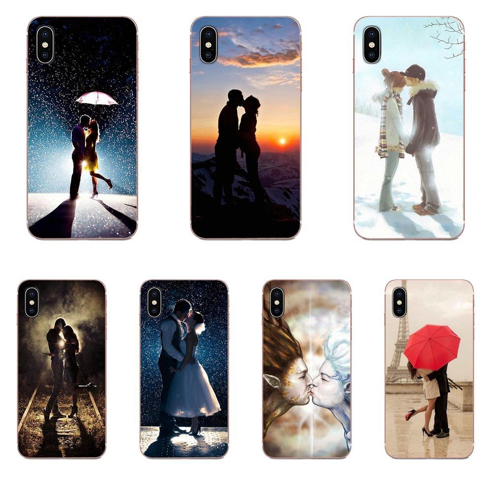 Par beso amor hombre mujer Grunge para Xiaomi Redmi Mi 4 7A 9T K20 CC9 CC9e Nota 7 8 9 Y3 SE Pro primer jugar TPU Original