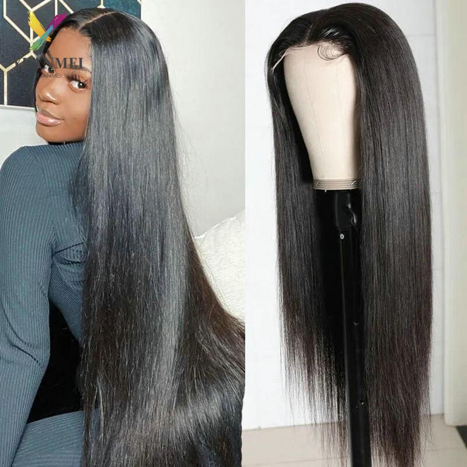 40 Inch Wigs For Women Human Hair Lace Front Wig Brazilian Straight Lace Frontal Wigs Preplucked 4X4 Closure Wig