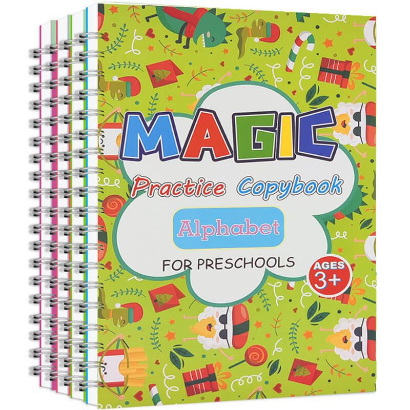 herramienta-de-escritura-practica-y-reutilizable-para-la-limpieza-de-los-ninos-juego-de-cuaderno-pegatinas-para-escribir-magicas-2-libros-23-uds-de-regalo