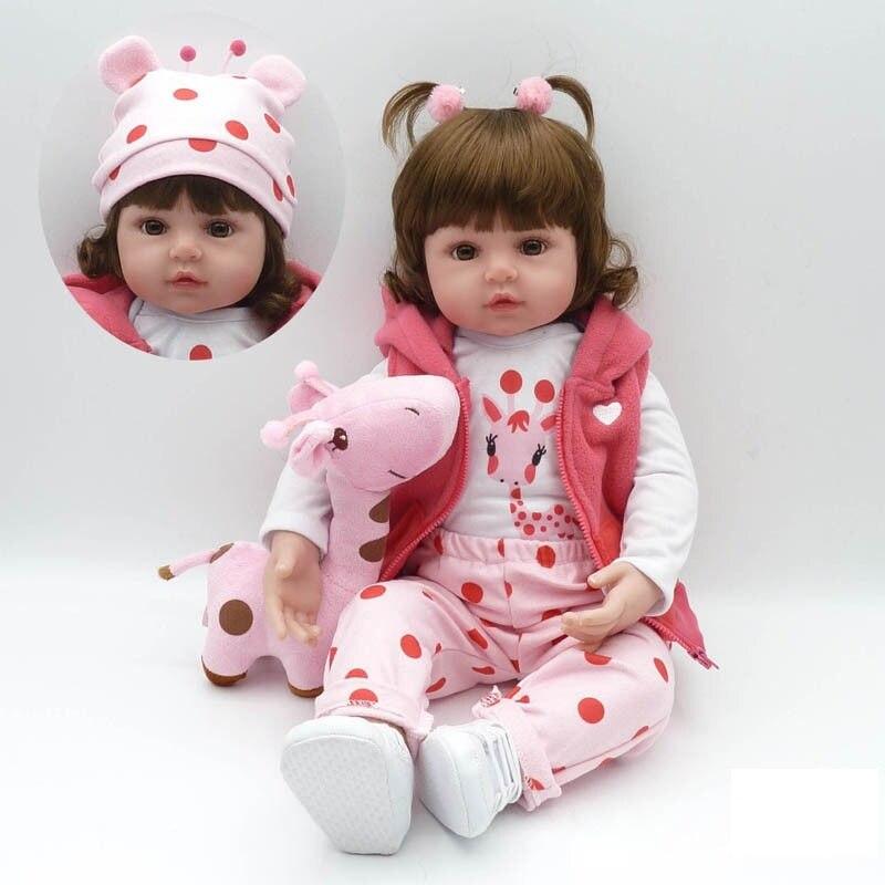 48/58cm Fashion Reborn Baby Dolls Silicone Full Body Realistic Baby Dolls Soft Touch Toddler Xmas Gift Birthday Present