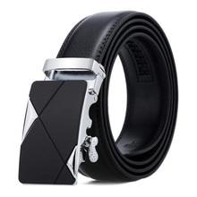 LannyQveen Fashion Men's Ratchet belt New PU Leather Belts for men Automatic buckle Belt wholesale free shipping Stock