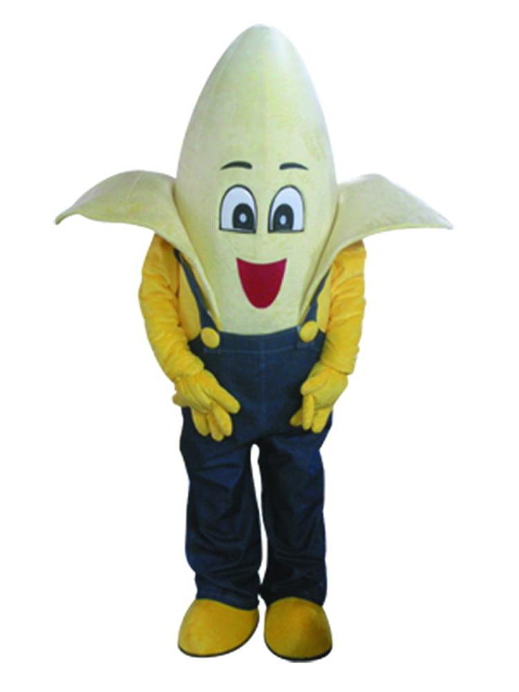 Venta caliente versión clásica feliz banana muñeca mascota disfraz adulto Halloween fiesta de cumpleaños dibujos animados ropa Cosplay disfraces