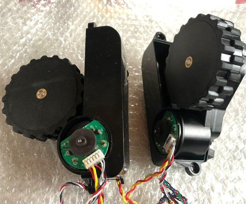 1 مجموعة (L + R) الأصلي مكنسة كهربائية عجلة ل شاومي Mijia STYJ02YM كنس روبوت قطع الغيار استبدال