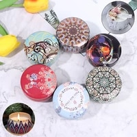 diy candle tin jars holder european vintage flower printed storage case for dry spices camping sweets jewelry gifts storage pots