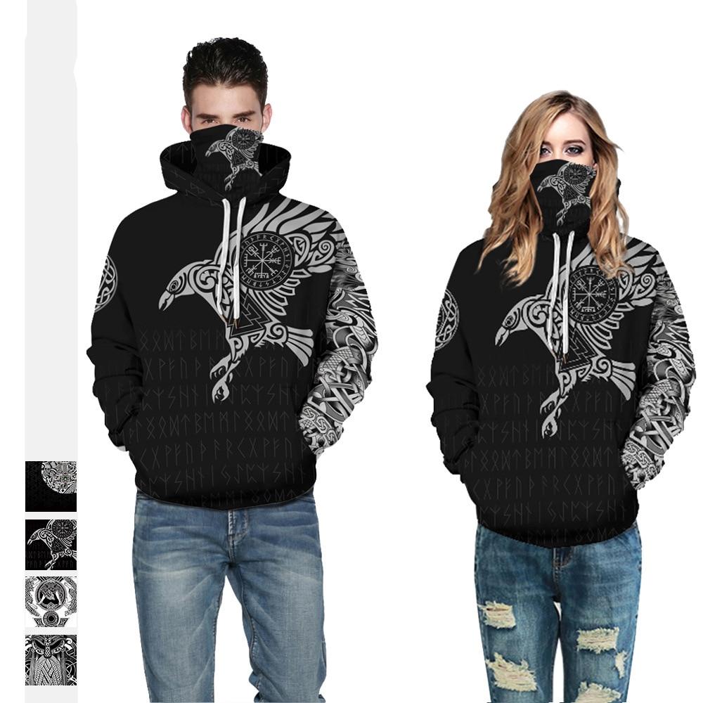 Горячая Распродажа, толстовка с капюшоном с принтом в стиле Харадзюку, черная свободная Мужская одежда, осенне-зимняя парная свитшот, пулов...