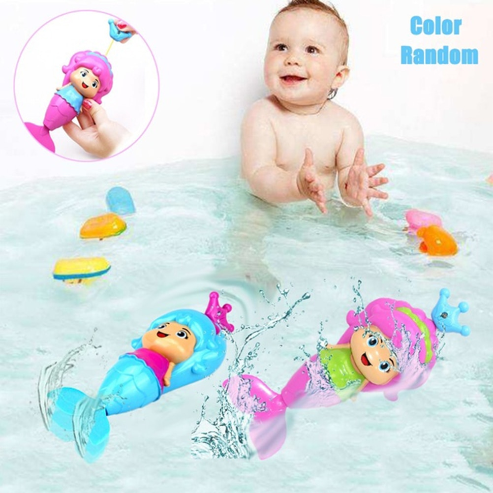 Ванна для купания Забавная детская игрушка для купания Русалочка ветряная плавающая игрушка для воды для детей Juguetes Playa Bad Speeltjes водяная игрушка #40