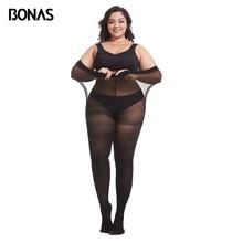 Bonas Lente 80D Panty Plus Size Xxxl Fluwelen Panty Elasticiteit Slip Vrouwen Sexy Extra Over Size Kousen Collant Femme