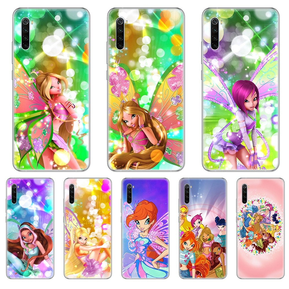 Italiano de dibujos animados Winx tpu 3D funda estuche transparente funda de teléfono para xiaomi Redmi 3S 4A 5A 6A 5 Plus 4X 7 8 8a CC9 K20 Pro K30