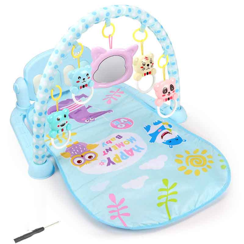 infant baby flying chess waterproof play mat early learning toy fitness bodybuilding frame crawling mat kick play lay sit toy Baby Play Music Mat Carpet Toys Kid Crawling Play Mat Game Develop Mat With Piano Keyboard Infant Rug Early Education Rack Toy