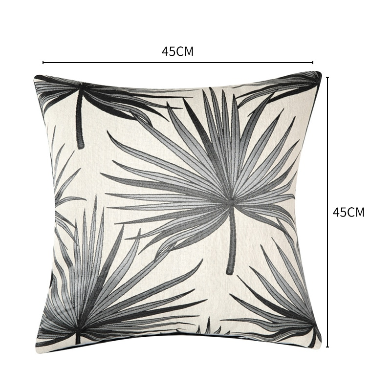 Nordic Jacquard Flower Cushion Cover 45X45cm Linen Throw Pillows Case Cover For Sofa Decorative Pillow Covers Soft Home decor  - buy with discount
