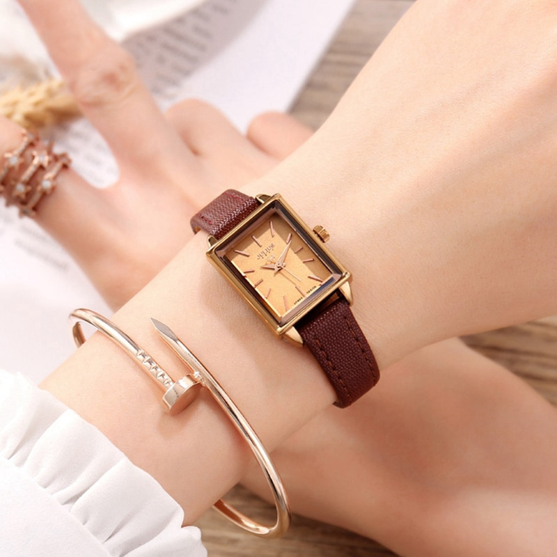 Big Sale Amazing Lady Fashion Trendy Wrist Watch Beaitiful Girl Leather Strap Clock Noble Women Luxury Bracelet Hour Girl Time enlarge