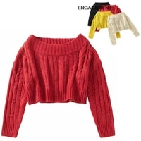 engagement za 2021 female fashion bloggers with same paragraph women tops sweater autumn winter one shoulder sweater