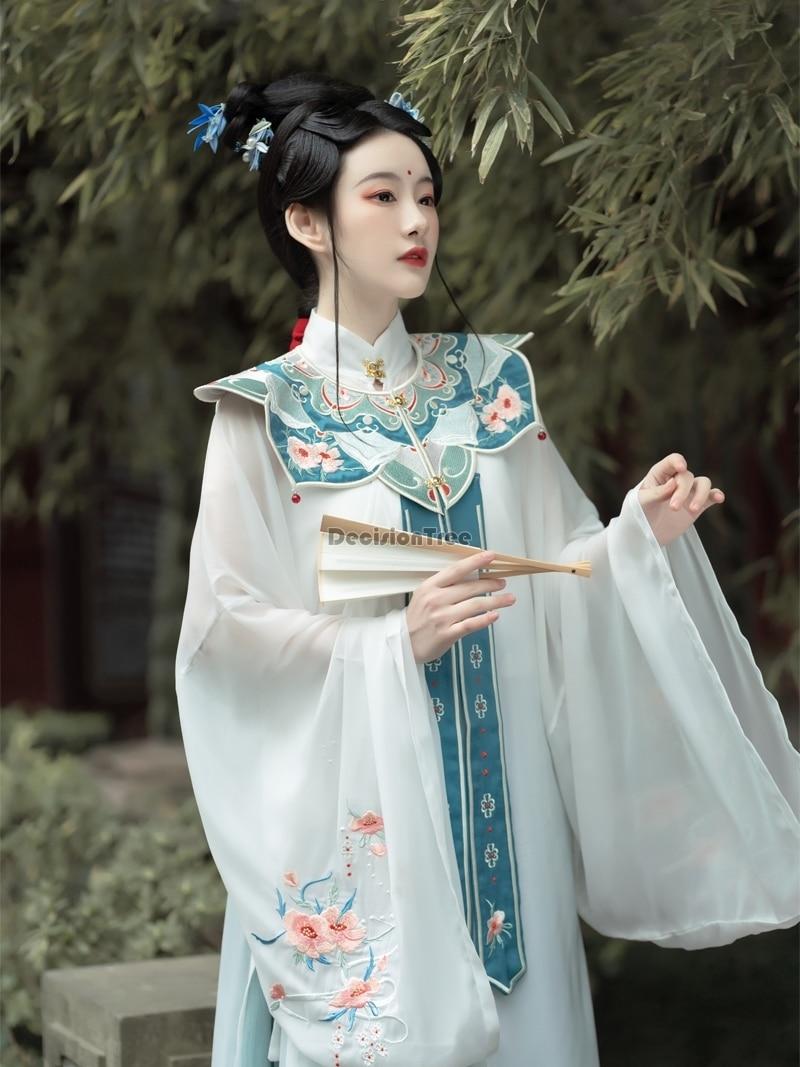 ملابس نسائية لعام 2021 ملابس للرقص الشعبي من hanfu للسيدات ملابس تقليدية صينية خرافية عتيقة ملابس للرقص الشعبي التقليدي hanfu