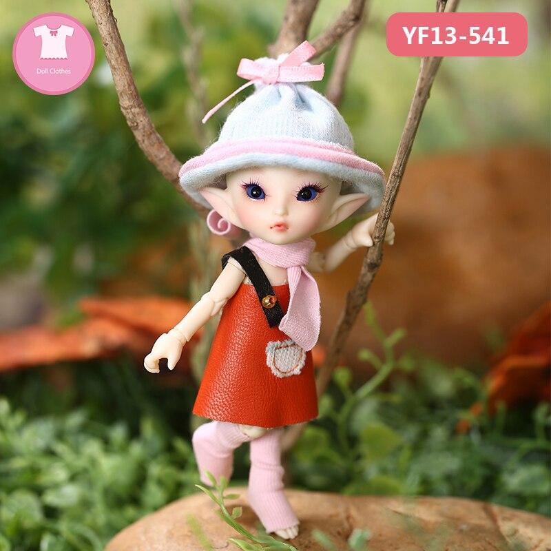 Muñeca BJD ropa 1/13 Linda muñeca con traje ropa para Realpuki Soso cuerpo muñeca accesorios Fairyland luodoll