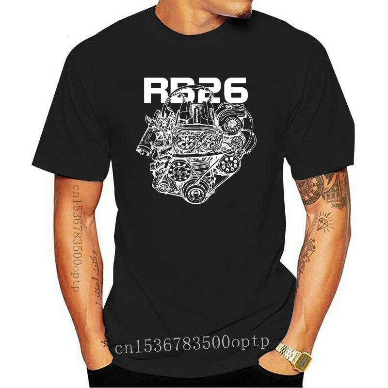New Skyline R32 RB26 Turbo Engine Cool Funny Birthday Gift T Shirt Printed tee USA size