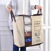non woven cotton quilt bag clothing quilt bag finishing bag quilt dust proof bag family save space foldable clothes organizer