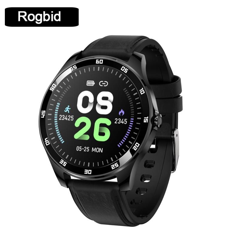 Rogbid GT ساعة ذكية للرجال للنساء معدل ضربات القلب ضغط الدم شاشة عرض نسبة الأكسجين في الدّم الرياضة جهاز تعقب للياقة البدنية معصمه