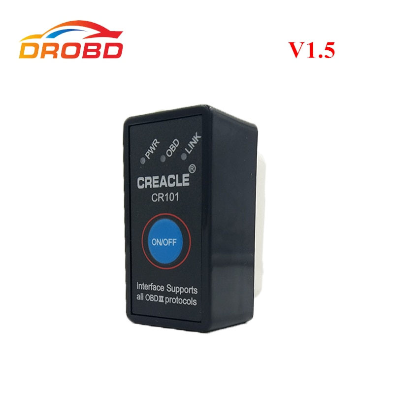 Auto OBD2 escáner Mini ELM327 V1.5 con interruptor compatible con protocolo completo Mini ELM 327 Bluetooth ELM327 V 1,5 OBD-II herramienta de diagnóstico