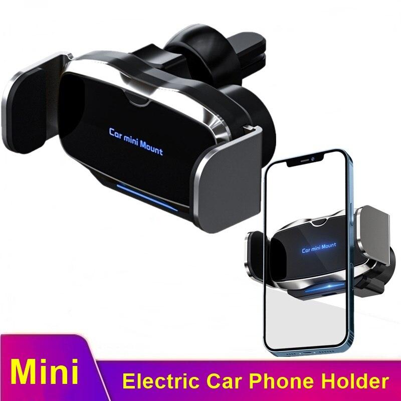 Tongdaytech-Soporte de teléfono eléctrico Para coche, Mini Soporte Para Iphone 12 11...