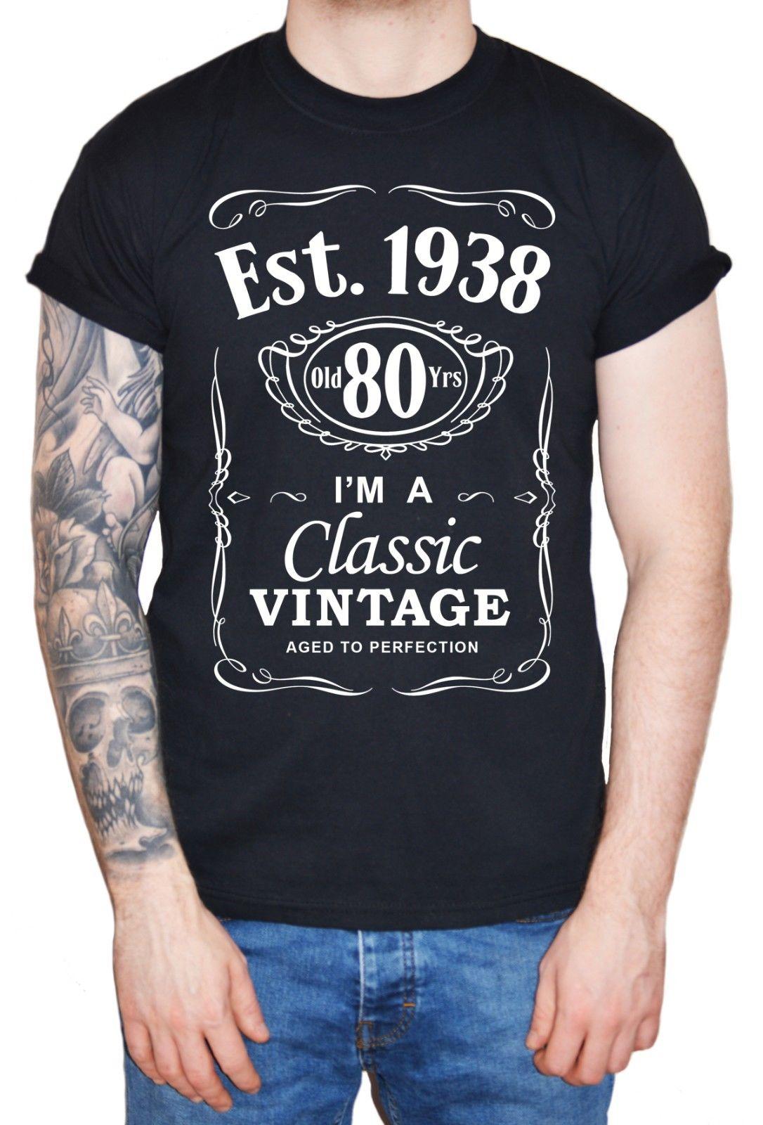 2019 Cool Tee Shirt Männer der 80th Geburtstag T-Shirt 1938 Vintage Mann Achtzigsten 80 jahre Geschenk Sommer T-shirt
