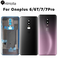 NEW Back Cover Oneplus 6 6T 7 Pro Back Battery Cover Glass Door One Plus 6 Rear Housing Glass Case O