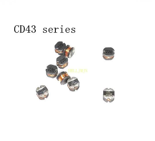 100 Uds CD43 22UH 220 alambre herida inductor 4*4*3mm (1uh 2.2uh 2.7uh 3.3uh 4.7uh 5.6uh 6.8uh 8.2uh 10uh 15UH