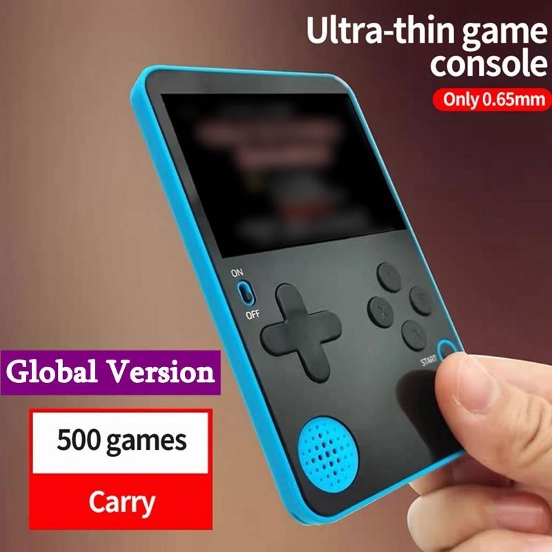 Ультратонкая портативная консоль для видеоигр, портативная игровая консоль со встроенными 500 играми в ретро-стиле, консоль для игр