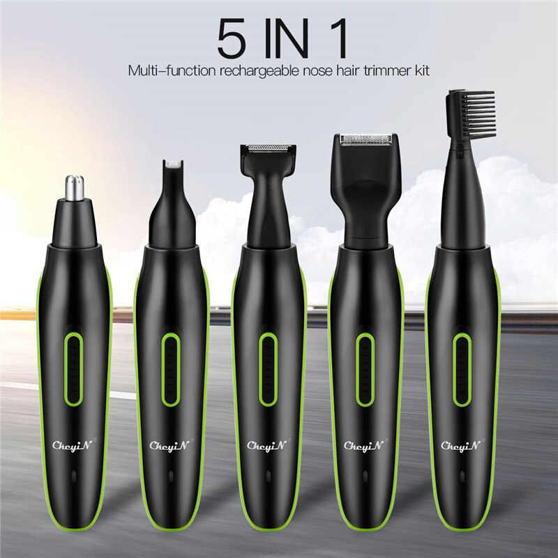 5 in 1 Nose Ear Hair Trimmer For Men Clipper Ear Face Eyebrow Nose Hair Removal Trimer Eyebrow Shave
