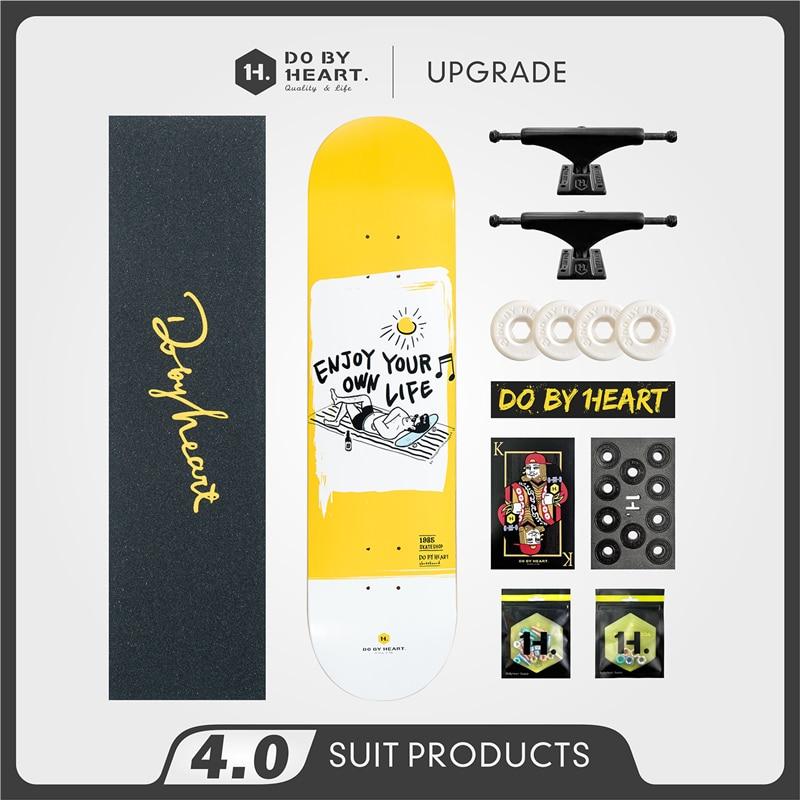 Skateboard Beginner Youth Adult and Children Boys and Girls Street Four-Wheel Road Twin Tips Skateboard Enjoyment Series