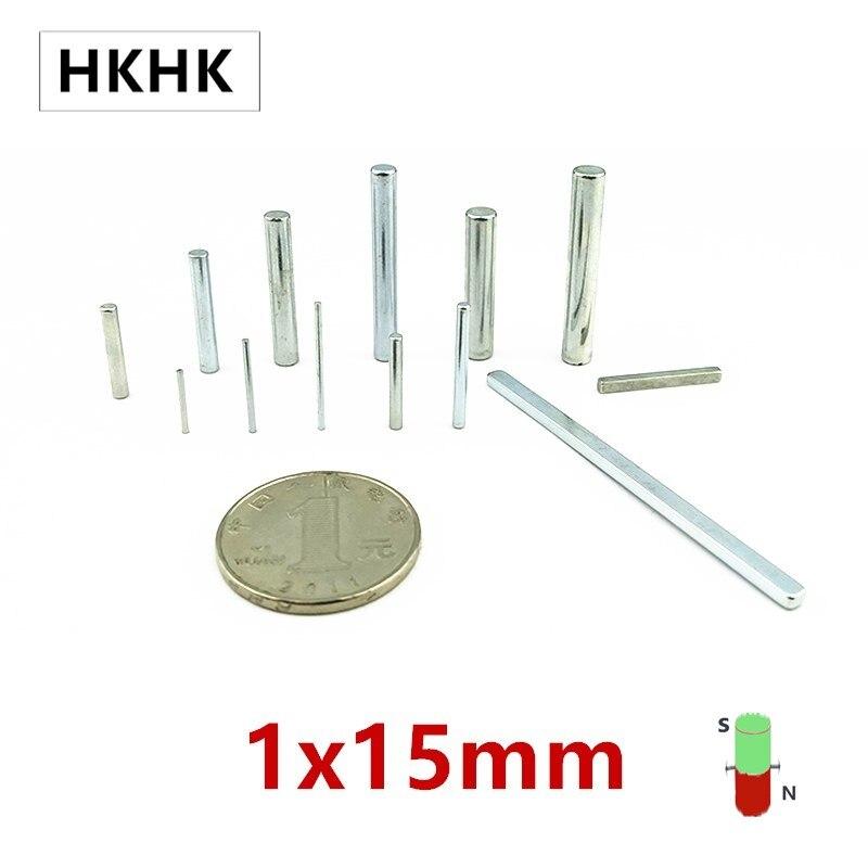HKHK 100/200PCS mini magnet 1x15 mm mm mini magnet encoder 1mm strong magnetic standard 1x15 mm