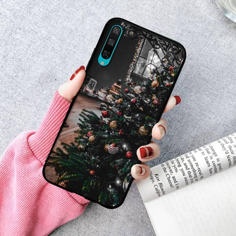 Christmas Tree Phone Case For Huawei P20 30 40 Pro Mate 20x 30 40 Pro Nova6 7 Honor 9X 10