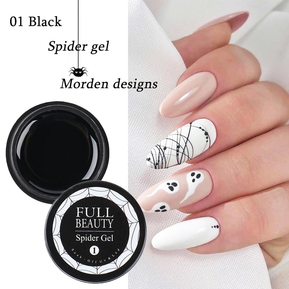new6ml Spider Web Gel Polish Nail Art Design Black UV Painting Gel Silk Lines Varnishes For Manicure