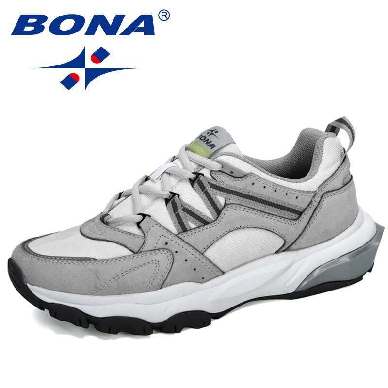 BONA 2020 New Designers Popular Sneakers Men Outdoor Walking Shoes Mesh Sport Running Shoes Man Low Top Soft Jogging Footwear