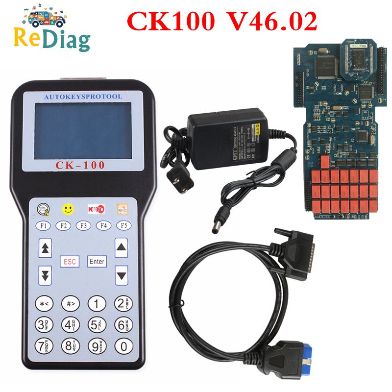 Gray Screen CK100 V46.02 V99.99 CK-100 Auto Key Programmer with 1024 Tokens Support Multi-language U