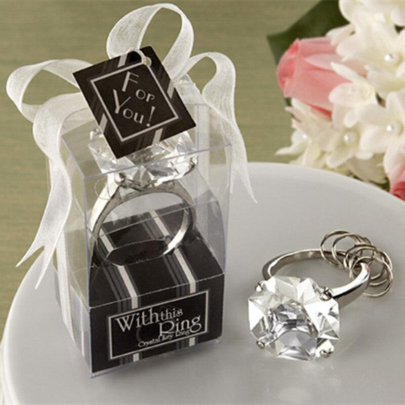 Anillo de boda con diamantes de lujo, para invitados, recuerdos de fiesta