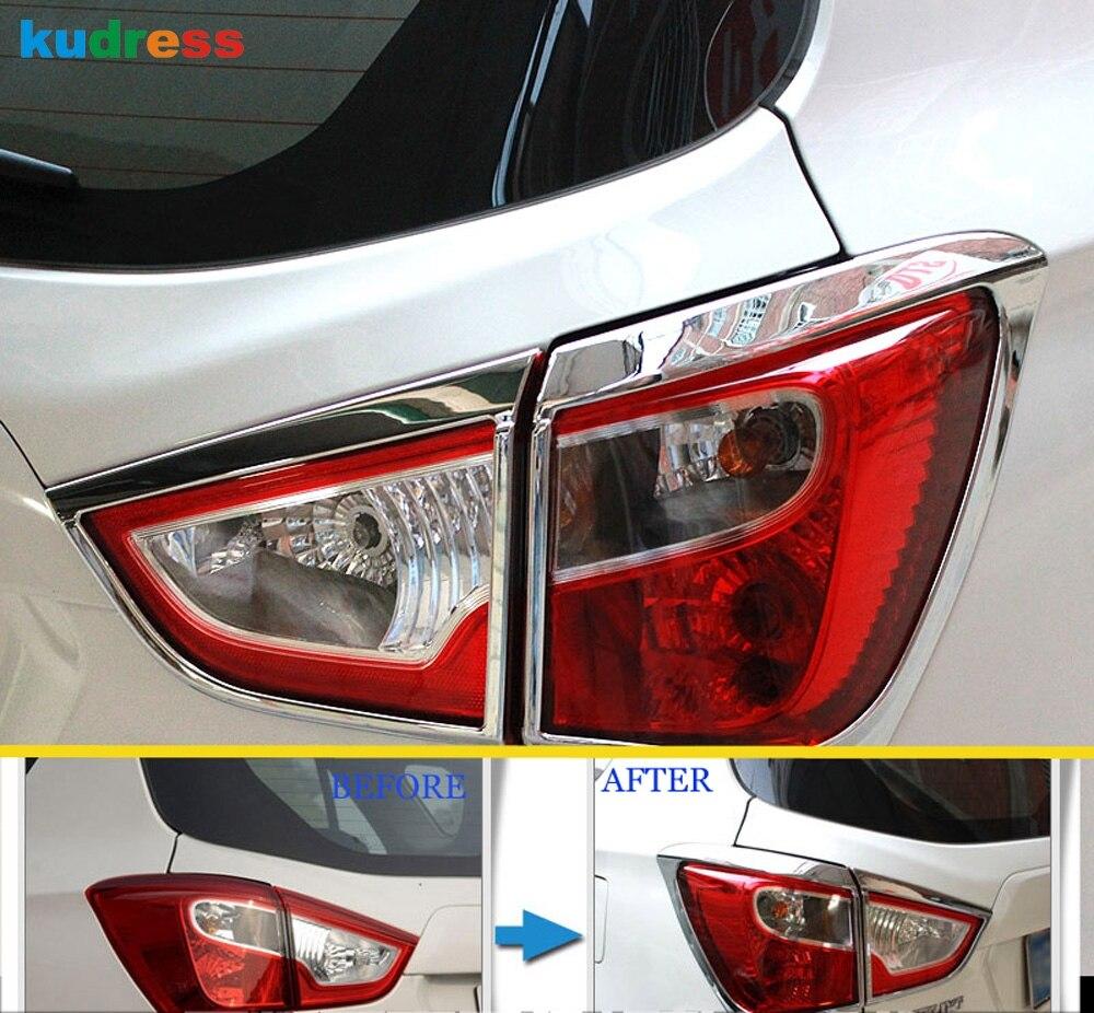 Para Suzuki Sx4 s-cross Sx4 Crossover 2014-2016 2017 2018 estilo de coche cromado luz para faro trasero cubiertas accesorios de ajuste