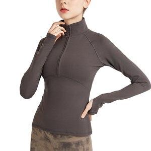 VUTRU Long Sleeve Sports Jacket Women Zip Fitness Yoga Shirt Winter Warm Gym Top Activewear Running Coats Workout Clothes Woman